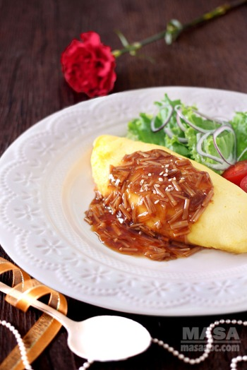 Brunch recipes easy steps omelette rice with wafu sauce masas oec omelette rice is one of the very recognizable japanized western food usually we drizzle some ketchup on top egg and ketchup is a perfect combination forumfinder Images