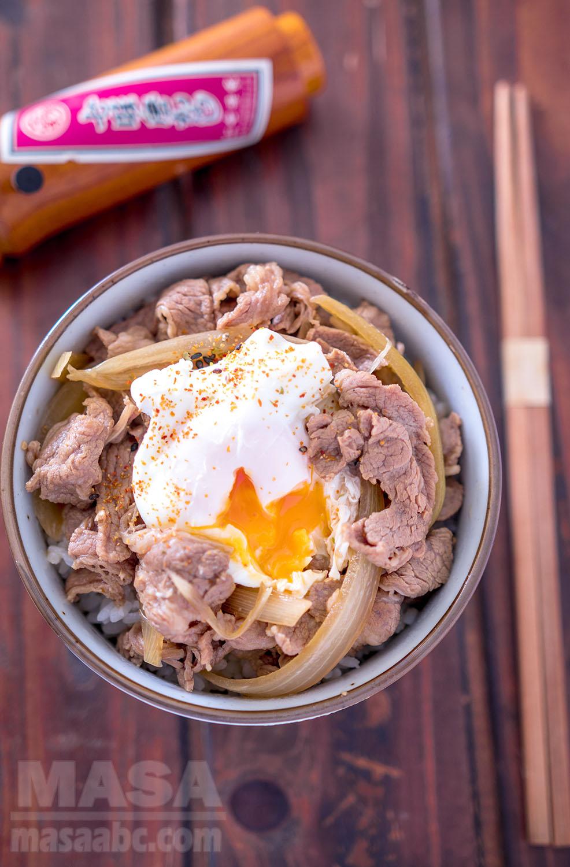 Japanese Beef Dish Donburi Gyu Don Beef Donburi Masa S Oec Cooking